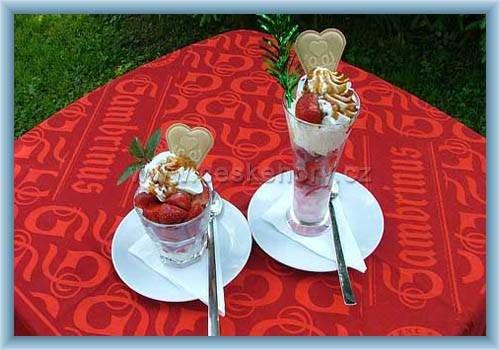 Penzion U raka - zmrzlinové poháry
